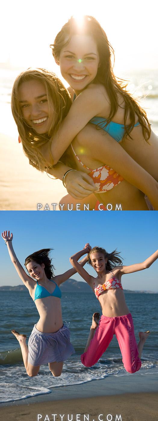San Francisco, CA Jul 05, 2008 © Patrick Yuen Photography & Imaging Having fun on the beach!
