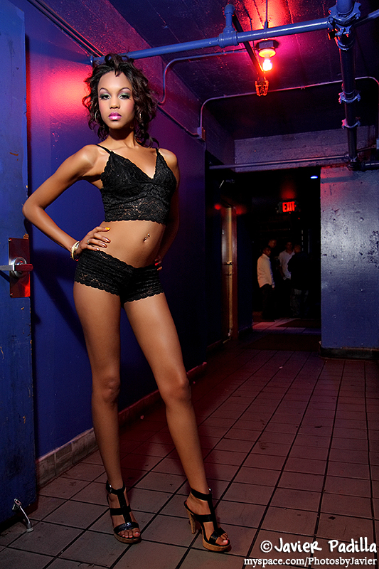 Club NV - SF, CA Jul 07, 2008 Javier Padilla/K Antoinette Collection 2008 Black Boy Short/Cami Stretch Lace Set