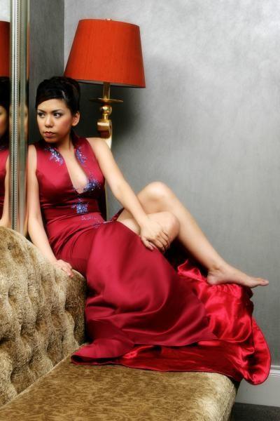 Female model photo shoot of angelene kok in singapore