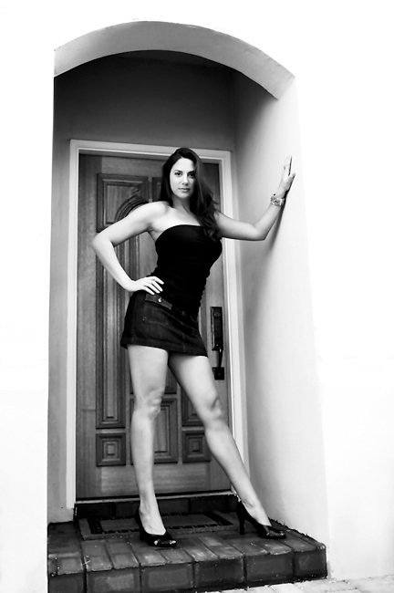 Female model photo shoot of Katydid