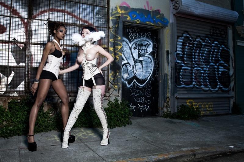 San Francisco, CA Jul 09, 2008 Antiseptic Fashion/ Allan Amato Nephele Corset and Alcippe Corset & Collar