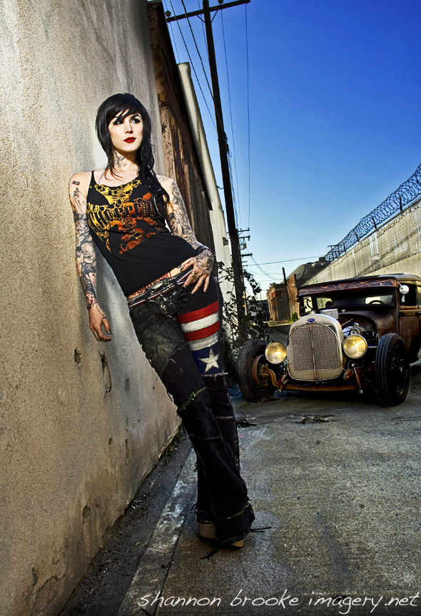 Long Beach Alley Jul 10, 2008 2008 Vanilla Gorilla Kat Von D for West Coast Choppers