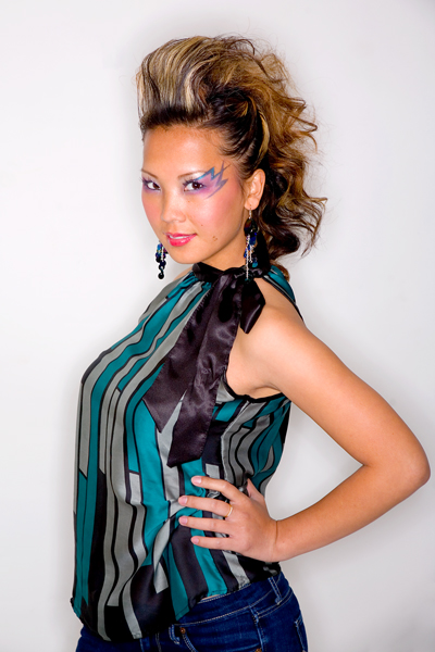 Female model photo shoot of pajh and misspahoua by butterflypajh in twin cities, mn, hair styled by Hair by