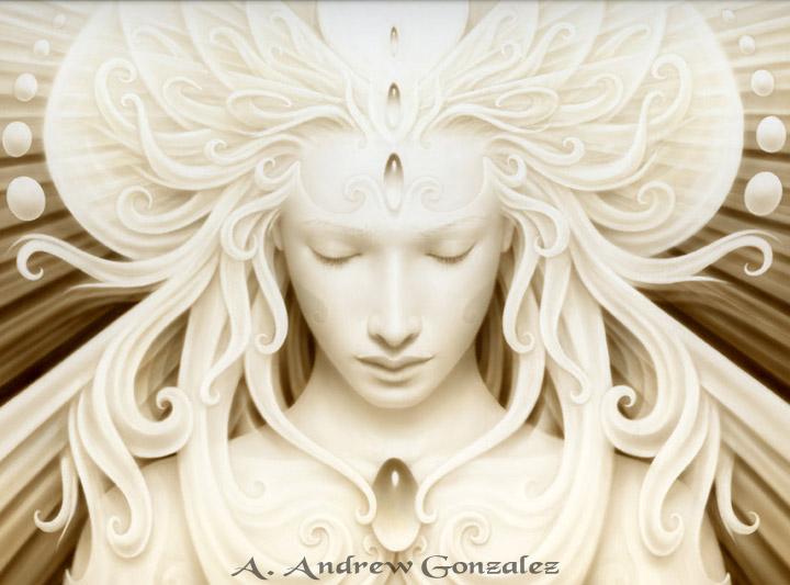 Jul 12, 2008 A. Andrew Gonzalez The Virgin Queen - Acrylic on ClayBord