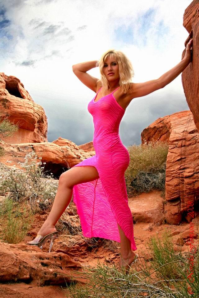 Nevada USA Jul 13, 2008 Nevada Fantasies Red Rock Lady