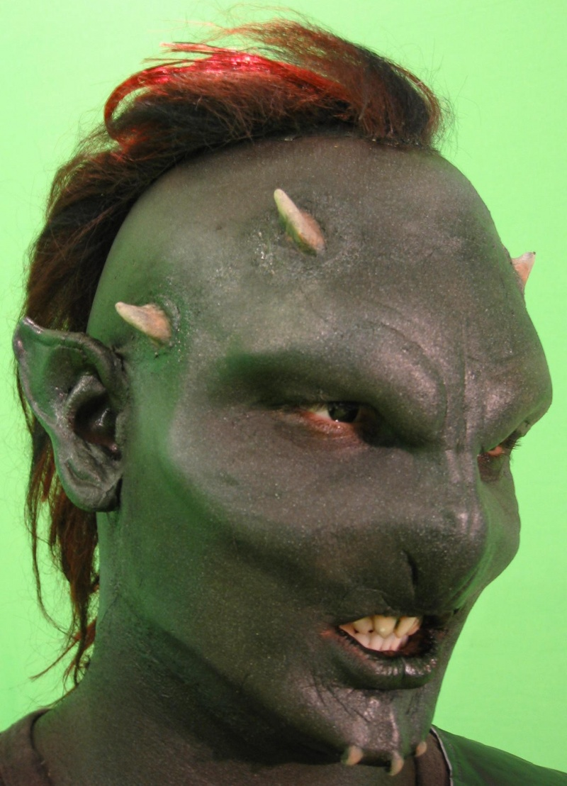 Jul 13, 2008 Bad guy for indy film. I sculpted, molded, baked, applied, and painted this guy a total of 8 times. Teeth, ears, mohawk, and horns made special too. Help with application and bald cap provided by Luandra, Hair - Saida. Model/Eyewear - Greg.