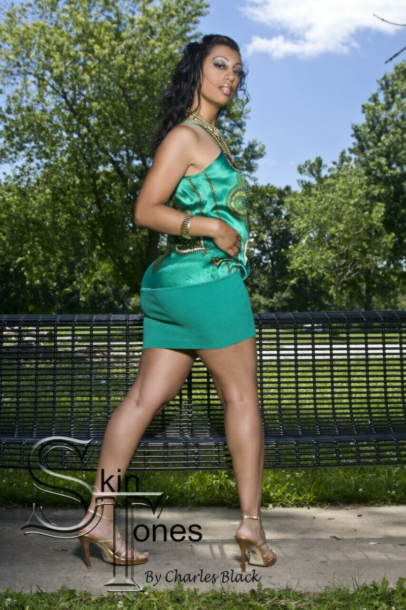 Female model photo shoot of Ladie Jae by Charles E Black Jr in Chicago, makeup by Claude Julian