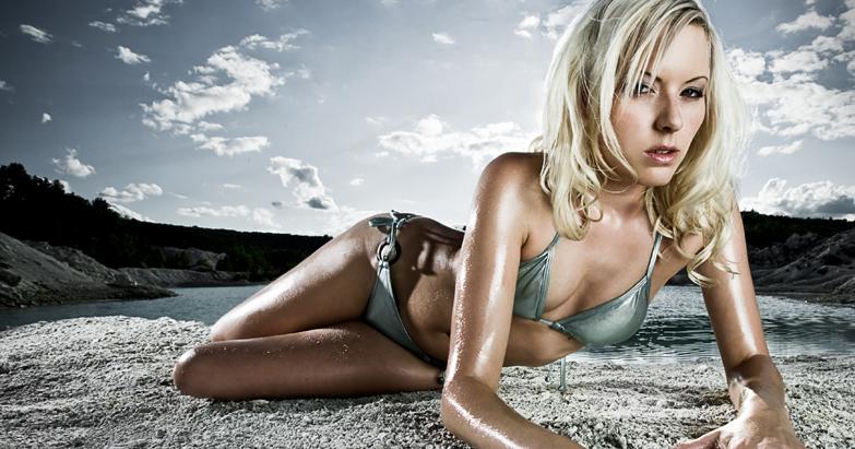 Female model photo shoot of Anouck by CDuro in Blue Lagoon...
