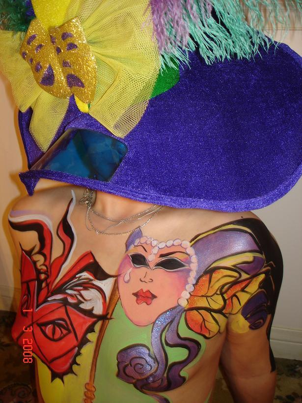 Kitchener,On /Canada Jul 19, 2008 Manas body art venetian mask---my sweetheart European model