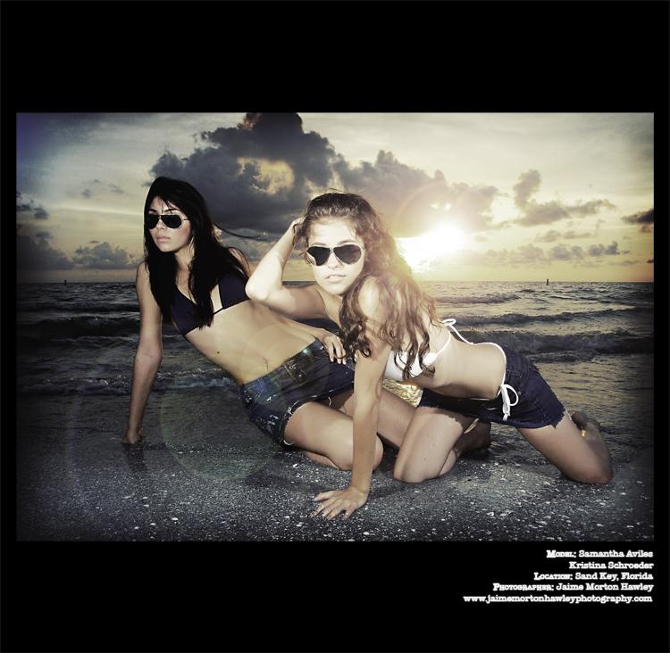 Sand Key, FL Jul 21, 2008 Jaime Morton Hawley Sunglasses Ad