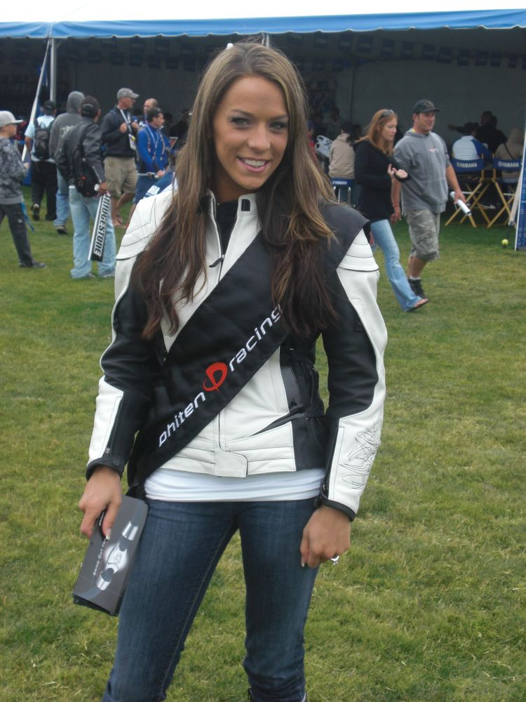 Monterey Bay, CA- World GP Laguna Seca Jul 21, 2008 Non pro pic of me.... Workin as a spokesmodel for yamaha