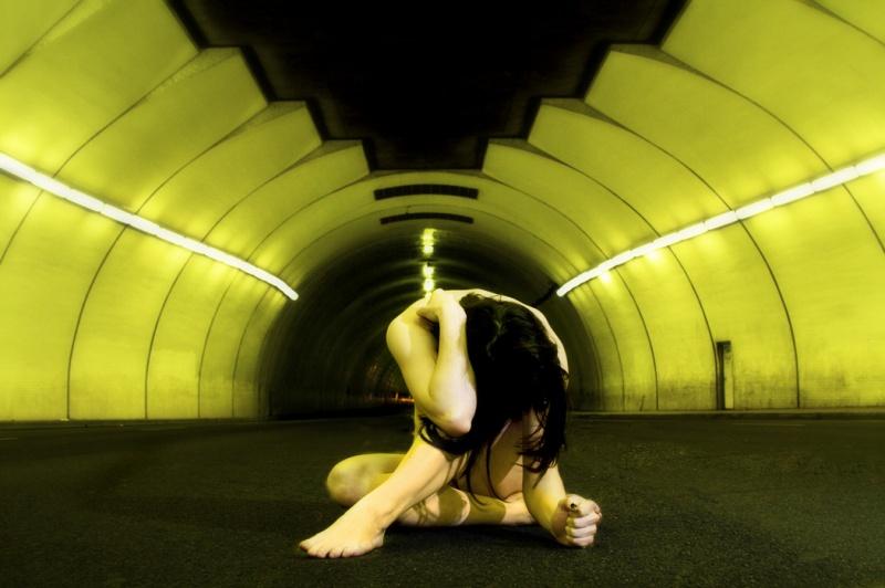 Male model photo shoot of Phillip John Photos in 2nd Street Tunnel Downtown LA