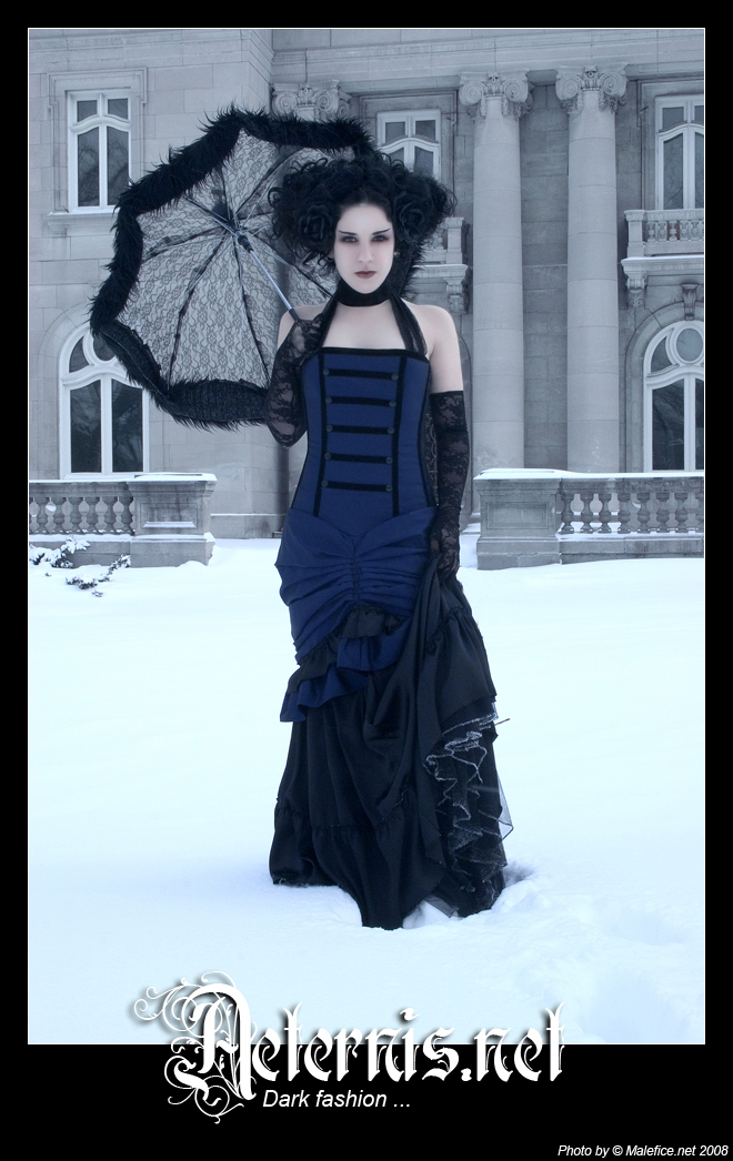 Montreal Jul 24, 2008 designer and model: myself / photo: Malefice Midnight Blue Dress
