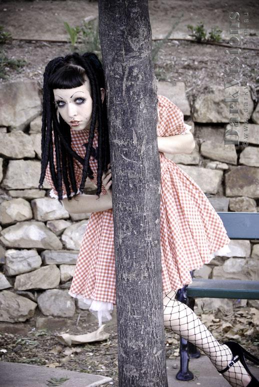 Female model photo shoot of Zephyr Elf by DarkVisions in River Torrens, Adelaide :D
