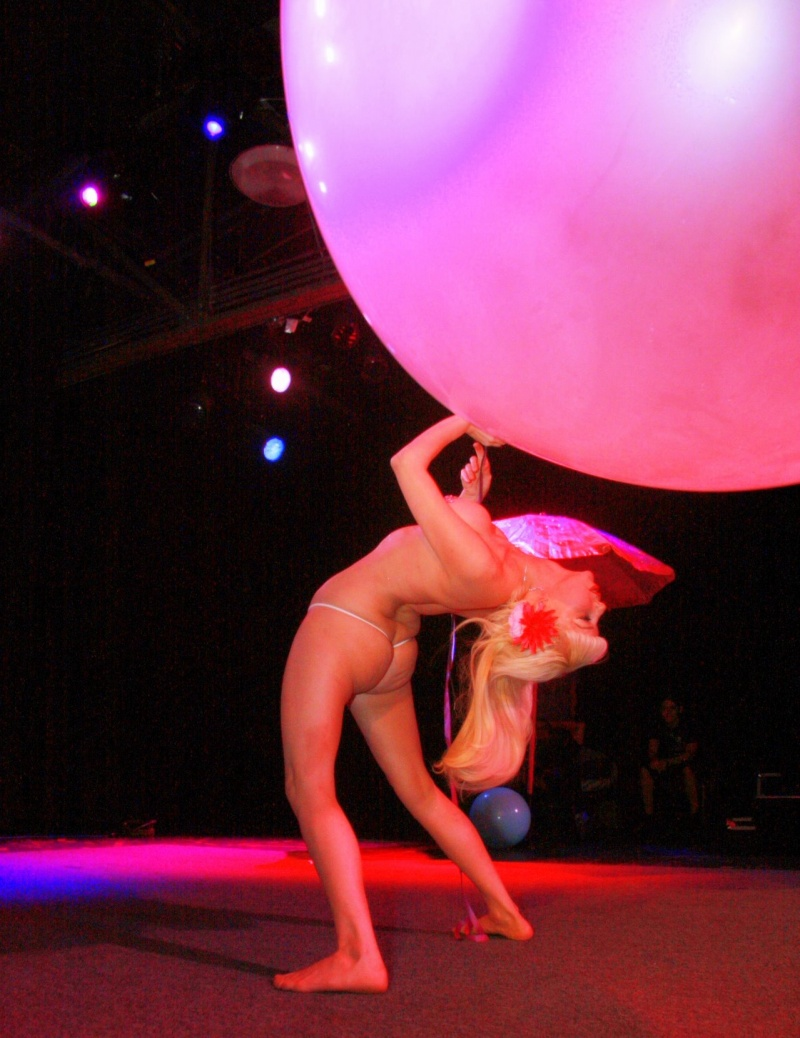 Aug 04, 2008 doing one of my performances with a giant bubble balloon. Pic by Tony Aria