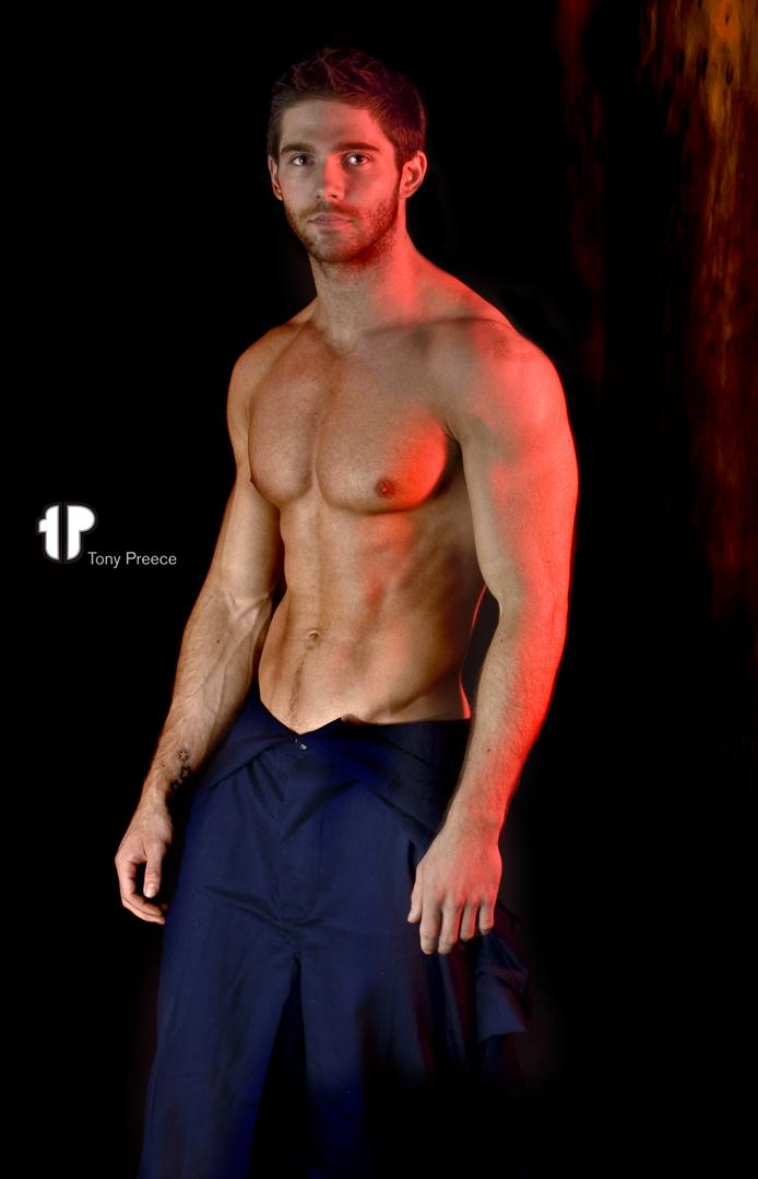 Male model photo shoot of Tony Preece in london studio