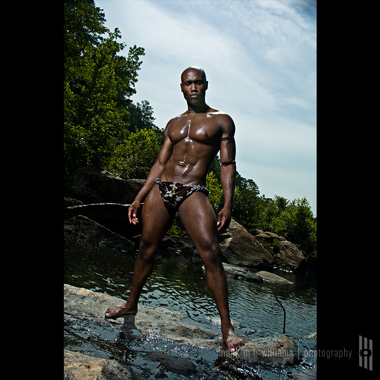 Male model photo shoot of malik m.l. williams and Terrance J by shift into manic in High Falls State Park, Jackson GA, wardrobe styled by CoD Fashions LLC