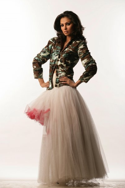 atlanta Aug 12, 2008 © 2008 anand vaswani-ALL RIGHTS RESERVED military theme based ballgown with jakect(fully emblished) by anand vaswani