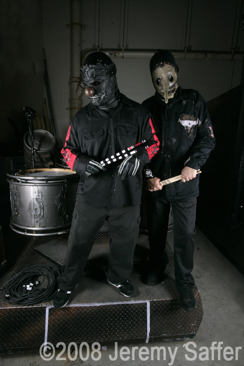 Rockstar Mayhem Festival - MA Aug 12, 2008 2008 Jeremy Saffer Slipknot - Clown and Chris for Vic Firth
