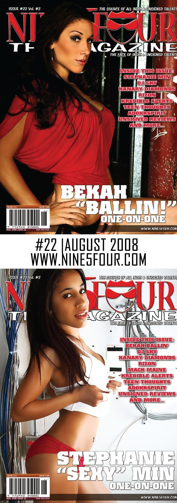 Pompano Beach, FL Aug 14, 2008 2008 Nine5Four, Inc. 2008 Issue 22 - Bekah Ballin and Stephanie Min