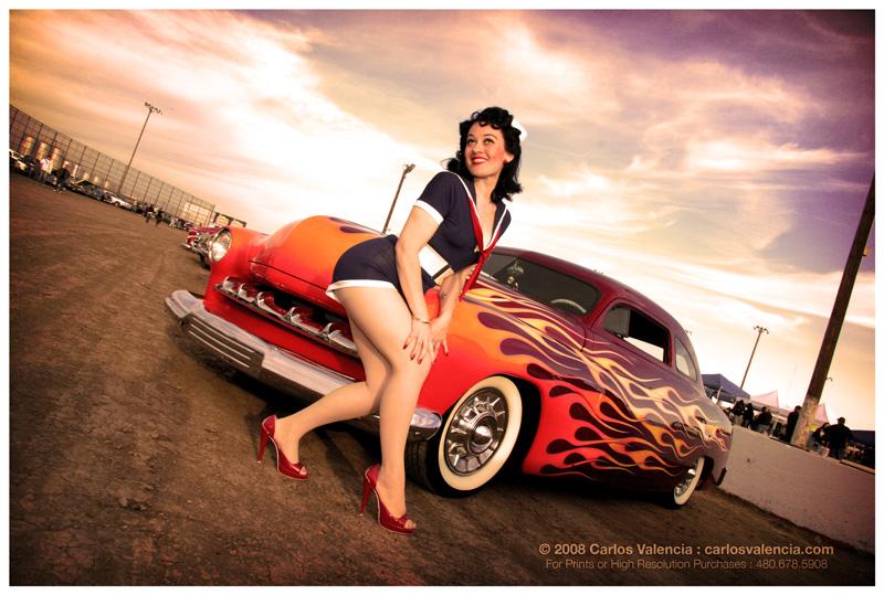 Female model photo shoot of Brenda Lee Pin-Up by Carlos M Valencia in Manzanita Speedway