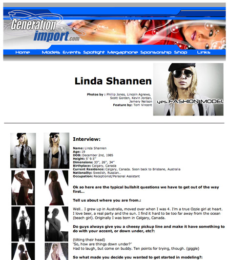Female model photo shoot of Linda Shannen
