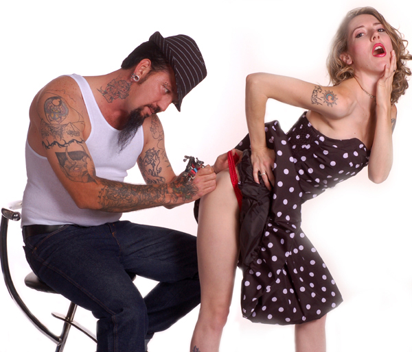 Studio Aug 17, 2008 Billy Pegram Tattoo Shot, Tattoo Artist Donnie Broussard