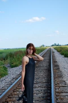 Female model photo shoot of Bobbi_Jo in Percival IA
