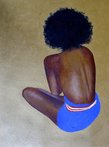 Houston, TX Aug 19, 2008 Dawn Okoro Turned Away oil and acrylic on canvas