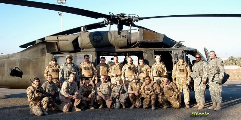 Bagdad, Iraq, Joined up with some british soldiers before flight Aug 21, 2008 steele photos hanging with the Brits