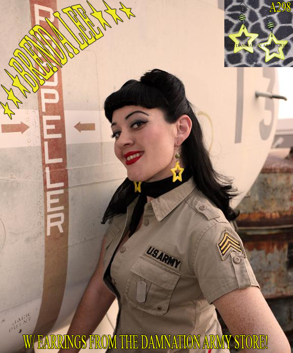 Female model photo shoot of Brenda Lee Pin-Up by Graylingstadt Photo