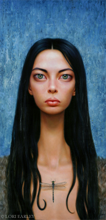 Aug 21, 2008 ©Lori Earley The Hunter, Oil on Board 2000.