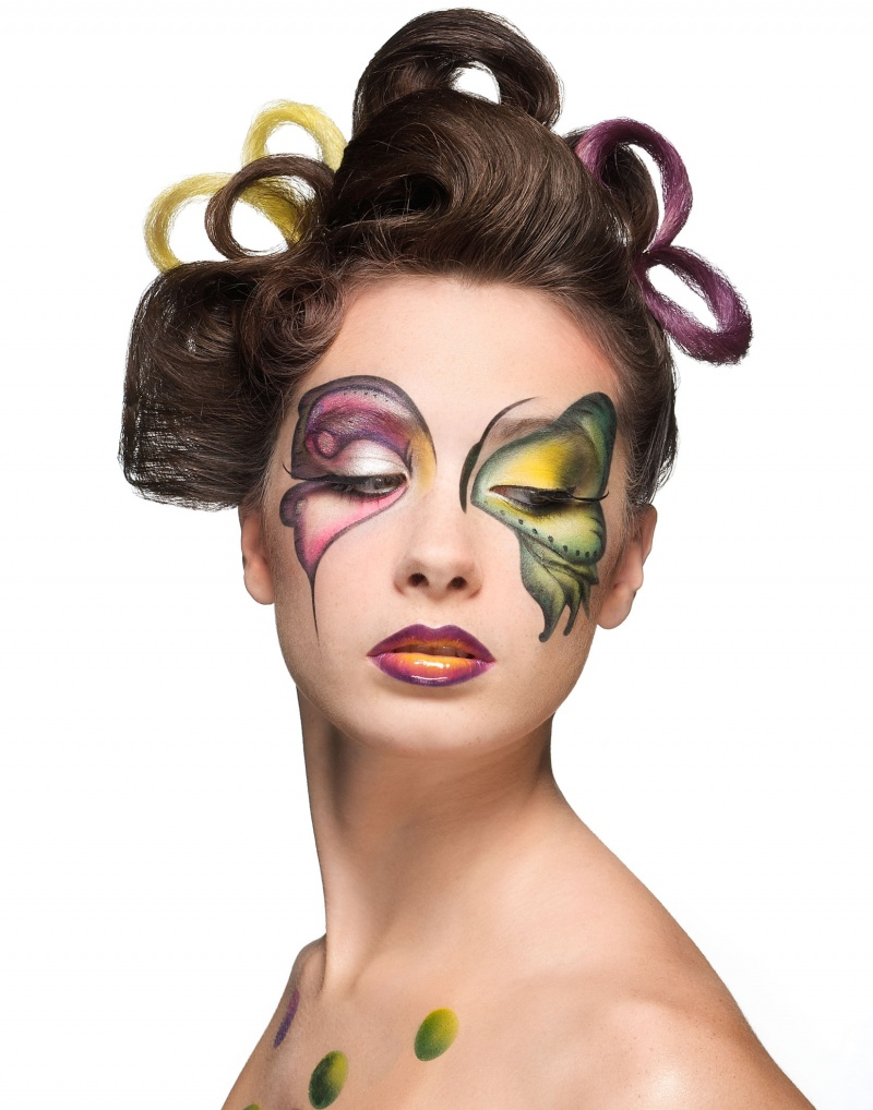 Aug 23, 2008 Michael Riedel Butterfly- makeup collaboration with melanie melanie