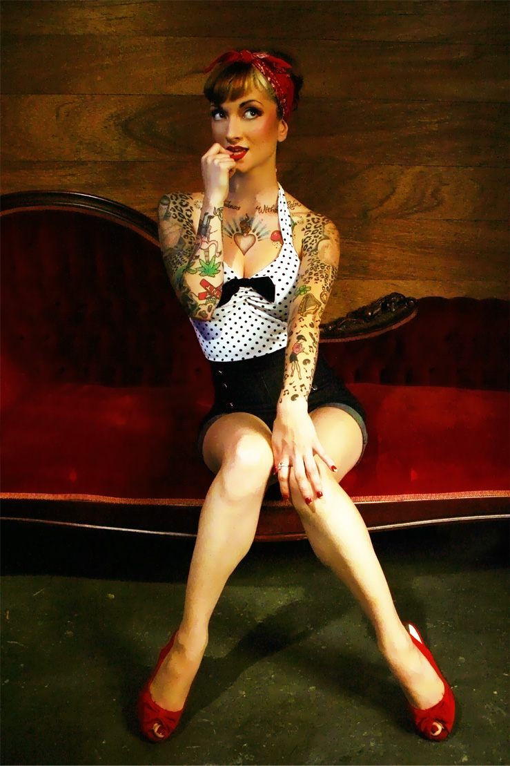 Female model photo shoot of Siren Song and Cherry Dollface, makeup by Xen Make Up