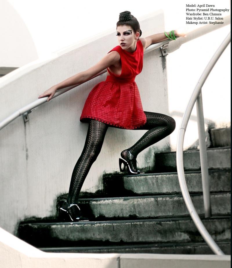 Aug 24, 2008 pyramid photography Model-April Dawn for Chmura/MUA-Stephanie Mir/Hair-UbU