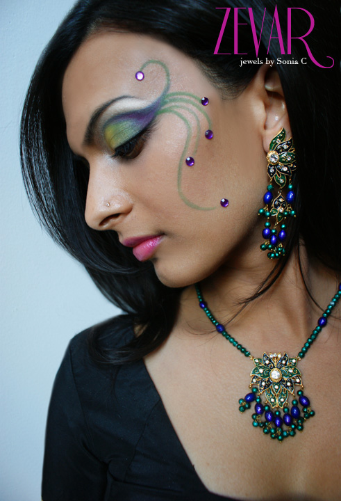 makeup / jewels / shoot style & photography by Sonia C  Aug 24, 2008 sonia c  2008 ZEVAR jewelry line