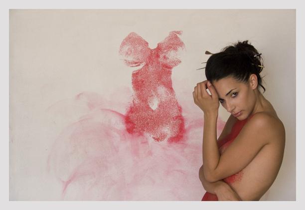 Venice studio Aug 27, 2008 © Alberto Bevacqua 2008 Body Print Painting