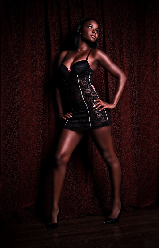 Female model photo shoot of Dela Q by The Light Tent in Hollywood Hills,Ca, makeup by KT Tran