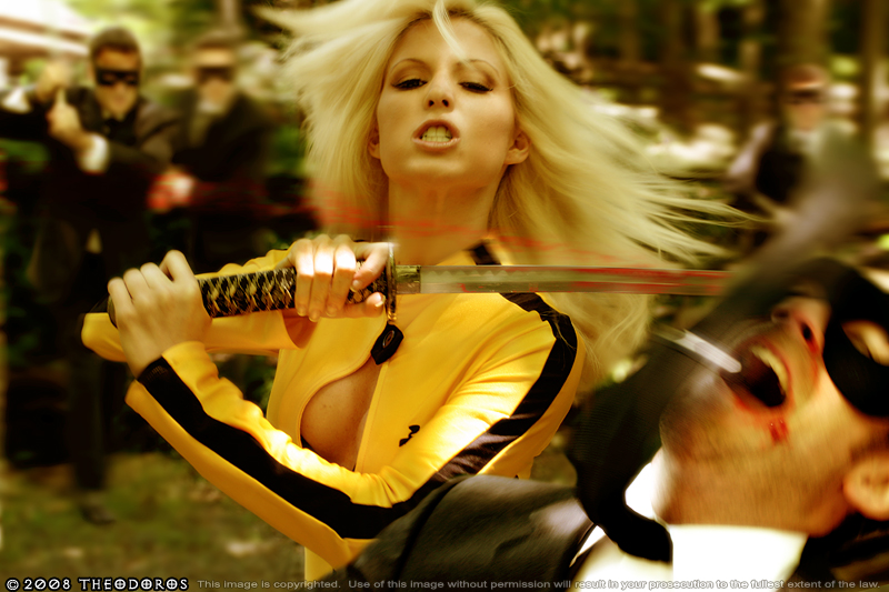 On location Atlanta, GA Aug 30, 2008 2008 Theodoros KILL BILL THEME SHOOT