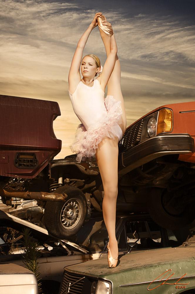A junkyard in Newark, CA Sep 02, 2008 2008 - Wade Chambers Photography Junkyard Ballerina ...