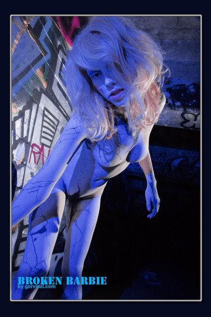 San Francisco Sep 03, 2008 Geof Broken Barbie; Body Painting by James
