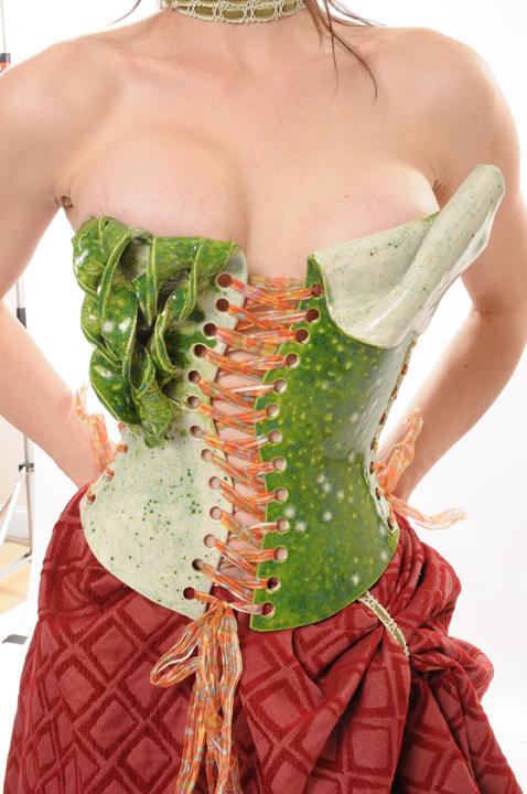 okc Sep 07, 2008 nicole moan ceramic corset Green with Envy - ceramic corset