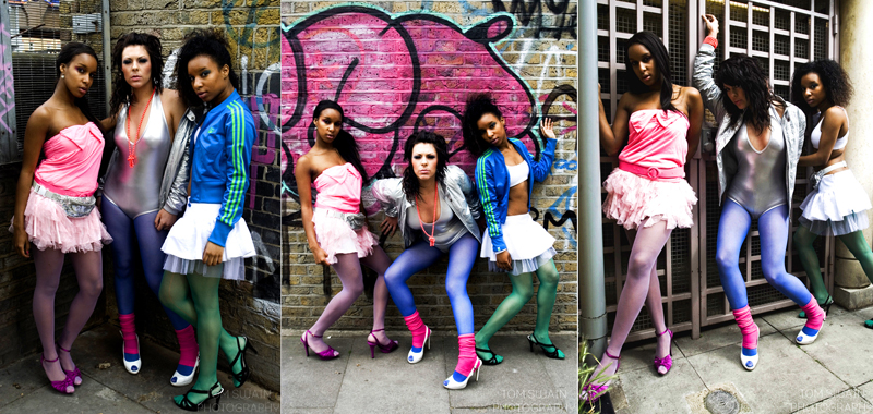 Male and Female model photo shoot of Tom Swain, Rachel Emma, Stephanie -marie and Camille Witter in Brick Lane