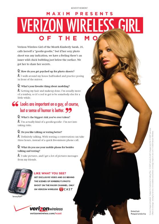 Sep 07, 2008 Dennis Publishing Maxim Magazine / Verizon Wireless - October 2008