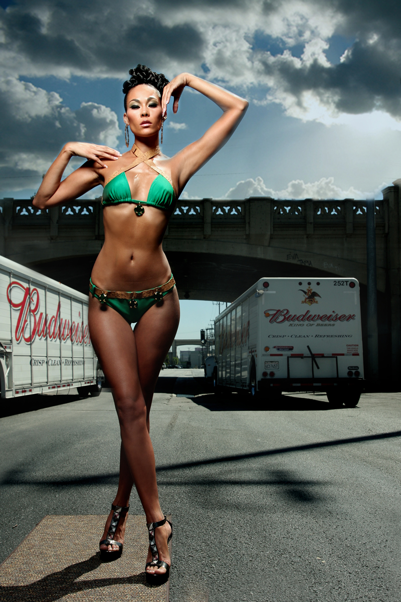 California Sep 08, 2008 Remarquable Designs By Essence Jade from ANTM in RDE Swimwear