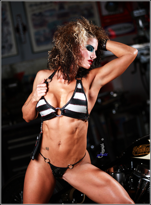 Hollywood, CA Sep 10, 2008 j3photo Fitness pro Mandy Blank-Make up by Pamela Vain