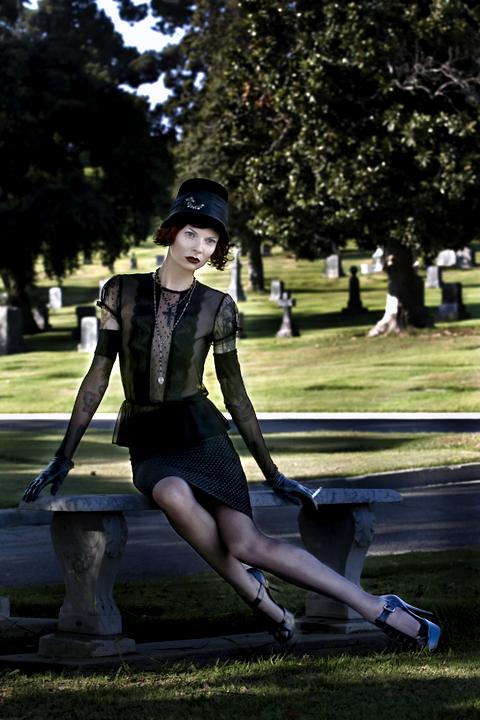 Forest Lawn, Glendale, CA. Sep 14, 2008 wardrobe styling by me...