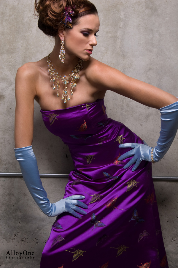 Female model photo shoot of Eileen Kim Couture