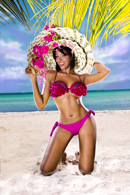 BEACH @ PHOENIX HOTEL ARUBA Sep 15, 2008 PHOTOGRAPHER: ANGELO TRIMON. MAKE-UP & BODY PAINT: ANDREW CURIEL LUICANA CECILIA COVER SHOOT FOCUS CARIBBEAN