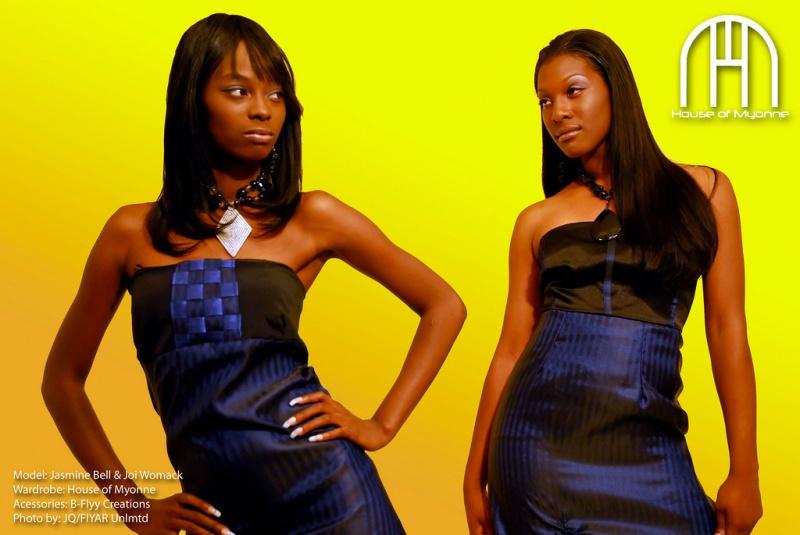Female model photo shoot of House Of Myonne and Jasmine The Dollface by JQ:FIYAR